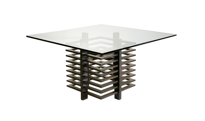 CHOCOLATE DINING TABLE BASE 100