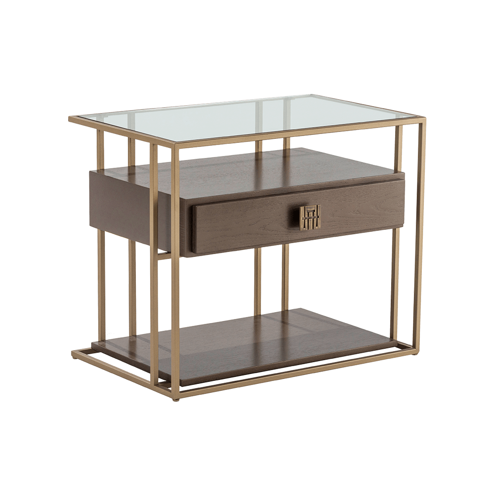 BOLERO NIGHTSTAND 100 (GLASS TOP)