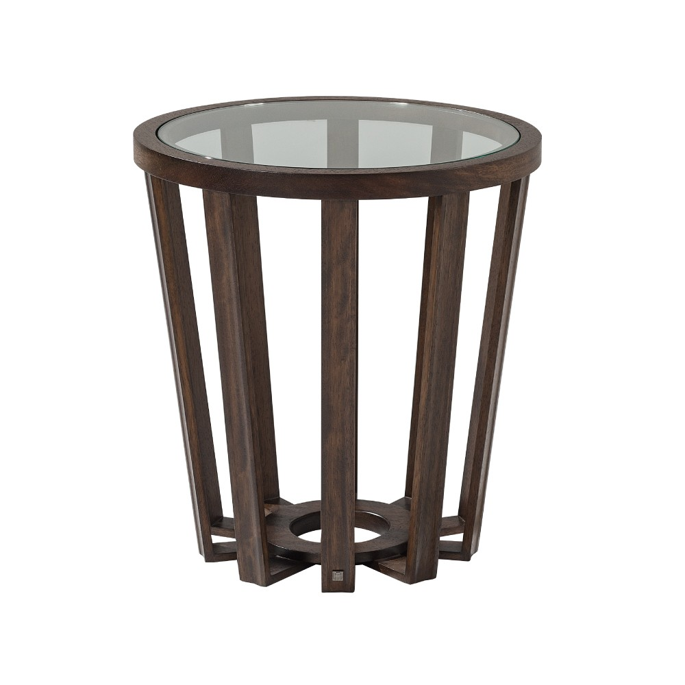 GALAPAGOS END TABLE 100 (GLASS TOP)