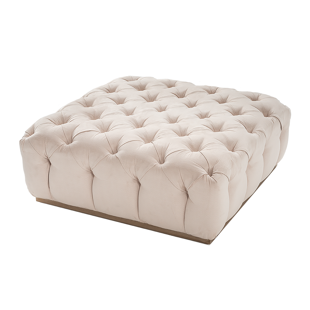 CARAMELO QUILTED OTTOMAN 140