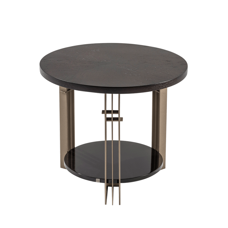 BOLERO ROUND END TABLE 210 (WOOD TOP)